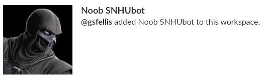 Noob SNHUbot has been added